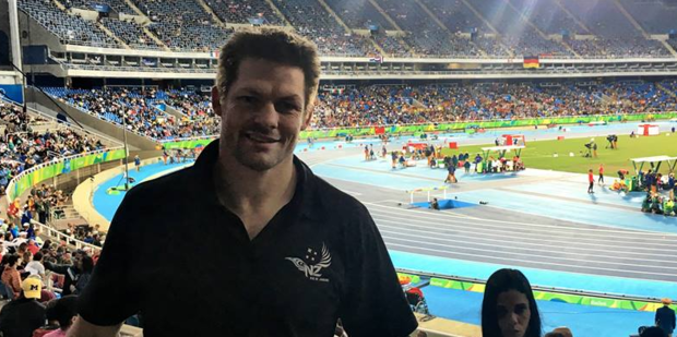 Richie McCaw has posted a photo to Facebook from the Rio 2016 Olympics. Photo/ Facebook.