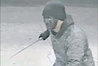 Perpetrator carrying a machete in an attack on the Mobil Service Station on Taradale Rd on Monday night.