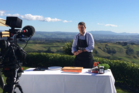 Peter Blakeway cooking outdoors for the new series, NZ ON A Plate. Photo/supplied