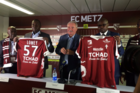 FC Metz' new jerseys featuring Chad on the front. Photo / Twitter
