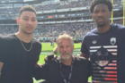 Philadelphia 76ers players Ben Simmons and Joel Embiid with their coach Brett Brown. Photo / Twitter
