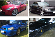 The types of high performance cars police say are being targeted in a Trade Me scam. Photo / Supplied