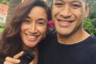 Star netballer Maria Tutaia and Wallabies fullback Israel Folau have not yet had the conversation of where they'll end up living. Photo / Twitter