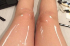 Oily legs or white paint? Optical illusion divides internet. Photo / Leonardhoepams Instagram