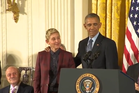 Ellen began crying before Obama had even presented her with the medal.