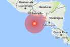 The earthquake struck off El Salvador. Photo / USGS