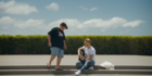 "Julian Dennison and Irish singer Ronan Keating have teamed up for Air New Zealand's ""Summer Wonderland"" video. Photo/ Air NZ Twitter"