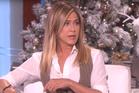 Jennifer Aniston as slammed tabloids in an appearance on Ellen DeGeneres' talk show.
