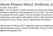 Northcote Primary School is looking for a new principal who is 'like Batman'. Photo / via Education Gazette