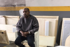 With blonde hair, Kanye West stepped outside for the first time since leaving hospital. Photo/Instagram