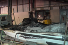 One person suffered burns after a jet ski exploded in a factory in South Auckland tonight. Photo / Supplied
