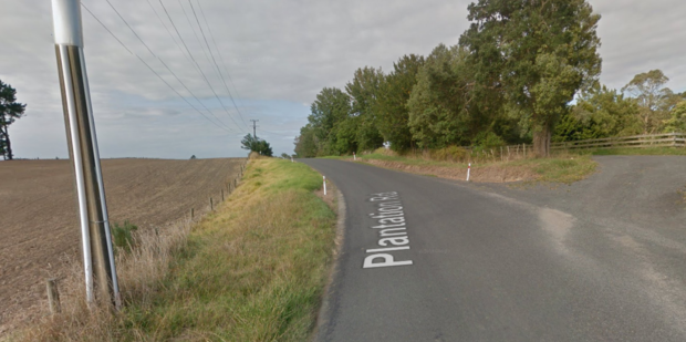 Douglas Russell Brown died after an accident with farming equipment on Plantation Rd in Rangiriri, Waikato. Photo/GoogleEarth