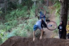 Rotorua mountain biker Cameron Osborne falls for the fourth time, while attempting a backflip.