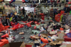 Mark Carter's Christchurch sportswear store after it was ram raided. Photo/Supplied