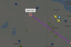 Flight MH132 is finally in the air after delays of more than two days at Auckland Airport. Photo/ flightradar24.com