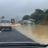 A truck struggles through the flood in Pokeono. Photo / Supplied