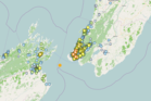 More than 6,000 people felt a 4.5 magnitude quake centred in the Cook Strait. Image/GeoNet