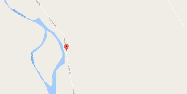 A young man died in an incident while repiling a house on Oneone Rd, Harihari. Photo/Google Maps