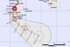 The latest path projection for Cyclone Cook. Graphic / Fiji Meteorological Service