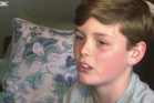 10-year-old Cole Doyle was bumped from an Air Canada flight. Photo / CBC
