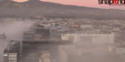 Thick fog quickly descends on Christchurch this morning. Photo / via twitter