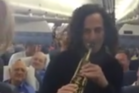 Kenny G's charity concert on a Delta flight seemed well-received. Photo / Facebook