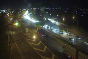 Traffic backed up on Southern Motorway after five-car crash. Photo/NZTA Traffic camera