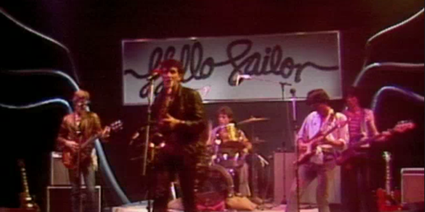 Hello Sailor scored a big hit in 1977 with Gutter Black. The song later got a new lease of the life as the soundtrack to Outrageous Fortune.