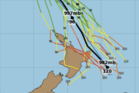 Tropical Cyclone Donna may sweep past the eastern coast of New Zealand later this week.  Photo / weatherwatch.co.nz