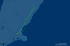 The flight was in the air for just over an hour, according to Flight Aware. Photo / Flight Aware