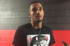 Nick Kyrgios wearing his Donald Trump shirt. Photo / Twitter