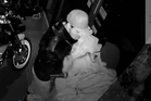 CCTV footage of one of the people police want to talk to in relation to the burglary.