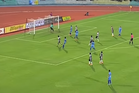 The ball swerves into the top right corner of the goal. Photo / FIFA YouTube