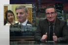 Not funny? US-based comedian John Oliver has hit back at Prime Minister Bill English, ripping into his spaghetti pizza, and describing him as the