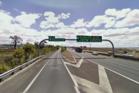 Cyclist spotted on motorway near Rosebank Rd offramp in Avondale. Photo/Google Streetview