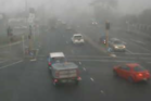 Thick fog is hampering travel around Christchurch this morning and grounded some flights. Photo / NZTA