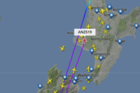 An Air New Zealand flight has been forced to return to Auckland after thick fog prevented it from landing at Christchurch Airport this morning. Image / Flightradar24