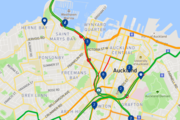 A crash prior to the Auckland Harbour Bridge has brought traffic to a crawl this morning.  Photo / via google maps