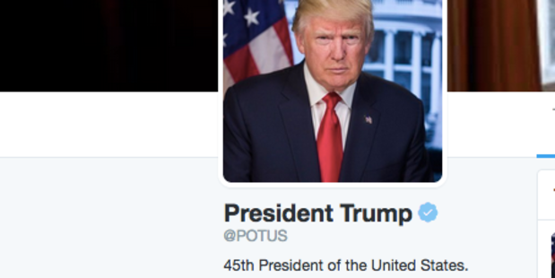 President Donald Trump took control of the @POTUS Twitter account today.