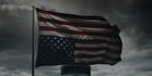 The upside down flag from the unsettling new promo for House of Cards. Source/YouTube