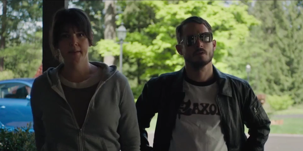 Loading Melanie Lynskey and Elijah Wood star in I Don't Feel at Home in This World Anymore. Photo/YouTube