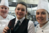 EIT students, from left, Nicola Barne, Jocinta Sens and Courtney Booth will be in hospitality action today.  Photo /Supplied