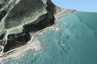A new 3D image of Waipapa Bay, created with LiDAR data, shows the impact of the November 14 quake on the Kaikoura coast, with a visibly uplifted seabed. Photo / LINZ