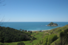 The diver collapsed and died after leaving the water in Anaura Bay, north of Gisborne. Photo / Google Earth