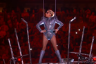 Lady Gaga at the beginning of her Superbowl half-time performance. Photo/YouTube