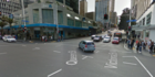 The assault took place on the corner of Victoria Street and Queen Street in central Auckland.