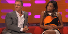 """Naomie Harris, right, told reporters she would """"bet"""" on Daniel Craig returning to the role. Photo/BBC"""