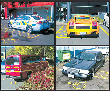 Drivers who abuse disabled parks
