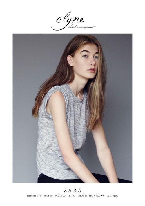 Zara from Clyne Model Management.