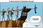 Followers of Islamic State doctrine face court in NZ. Illustration / Rod Emmerson